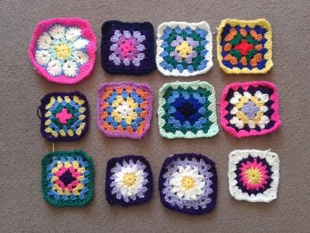 granny squares multi